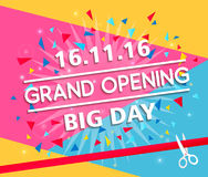 Grand opening banner design vector illustration Stock Images