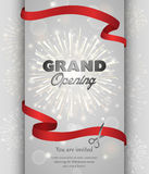 Grand opening banner design vector illustration Royalty Free Stock Image