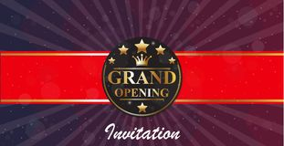 Grand Opening banners invitation Stock Image