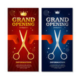Grand Opening Banners Invitation Set. Vector Royalty Free Stock Images