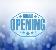 Grand opening blue bokeh background Royalty Free Stock Photography