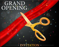 Grand opening card Stock Photo