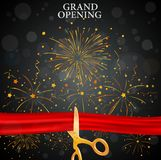 Grand opening card Royalty Free Stock Images