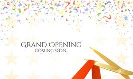 Grand Opening celebrities illustration Royalty Free Stock Photos