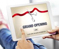 Grand Opening Ceremony Business Join Concept Royalty Free Stock Photo