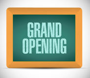 grand opening chalk board sign Royalty Free Stock Photos