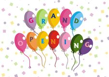 Grand Opening Colorful Balloons Stock Photos