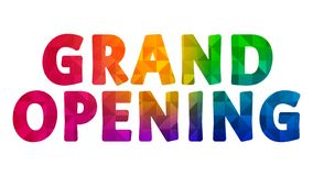 Grand Opening Colorful Graphic Design 001. High Resolution - Colorful Background vector illustration