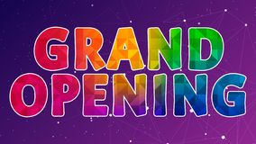 Grand Opening Colorful Graphic Design 002. High Resolution - Colorful Background stock illustration