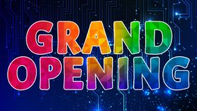 Grand Opening Colorful Graphic Design 003. High Resolution - Colorful Background royalty free illustration