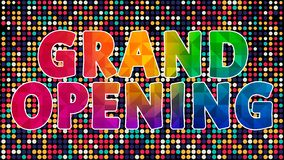 Grand Opening Colorful Graphic Design 004. High Resolution - Colorful Background stock illustration