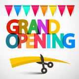 Grand Opening Colorful Vector Title Stock Photo