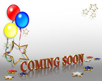 Grand opening Coming Soon Balloons  Royalty Free Stock Photos