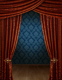 Grand opening curtains Royalty Free Stock Images