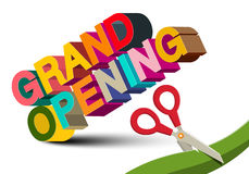 Grand Opening 3D Colorful Vector Title Royalty Free Stock Photo