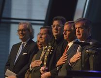 The Grand Opening of the Expansion at the Country Music Hall of Fame and Museum. Kyle Young, Vince Gill and other at the Grand Opening of the Country Music Hall Royalty Free Stock Image