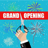 Grand opening with fireworks royalty free illustration