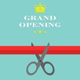 Grand opening Flat Style. Vector illustration. Royalty Free Stock Photo