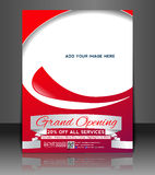 Grand Opening Flyer  Design Royalty Free Stock Photography