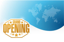 Grand opening gold card background Stock Images