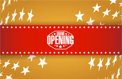 Grand opening gold card background Royalty Free Stock Image