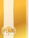 grand opening gold card sign stamp Stock Photos