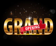 Grand opening golden typography graphic design Stock Photography