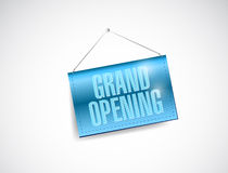 Grand opening hanging banner illustration design Royalty Free Stock Photography