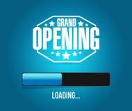 Grand opening loading bar background illustration Stock Image