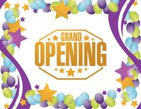 Grand opening party background Stock Image