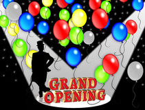 Grand Opening Party invitation. Illustration composition for Grand Opening Celebration template, poster or announcement with 3D text Stock Images