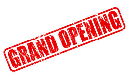 Grand opening red stamp text Stock Photography