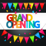 Grand Opening Retro Colorful Vector Title Stock Image