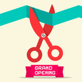 Grand Opening Retro Flat Desig Royalty Free Stock Image