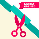 Grand Opening Retro Flat Design Vector Illustration Royalty Free Stock Image