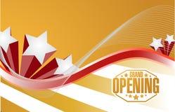 Grand opening sign celebration background Royalty Free Stock Image