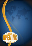 Grand opening sign gold card background Royalty Free Stock Photography