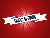 Grand opening sign illustration design graphic. Over a red background Royalty Free Stock Image