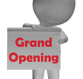 Grand Opening Sign Means Launch Of New Business Stock Photo