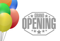 Grand opening sign stamp background Royalty Free Stock Photo