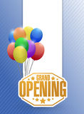 Grand opening sign stamp balloon background Royalty Free Stock Photo