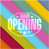 grand opening sign stamp color lines background Stock Images