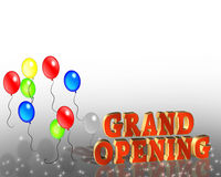 Grand Opening Sign Template Stock Photography