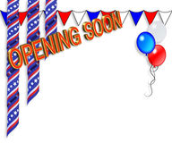 Grand Opening Soon border Stock Photography