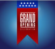 Grand opening stamp sign banner illustration Stock Photo