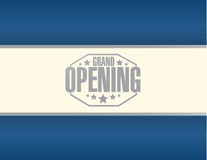 Grand opening stamp sign blue background Royalty Free Stock Image