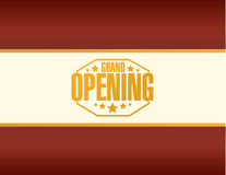Grand opening stamp sign red Stock Images