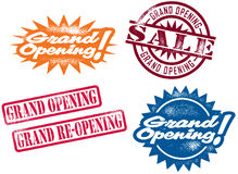 Grand Opening Stamps Royalty Free Stock Photo