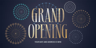 Grand opening vector background Stock Images