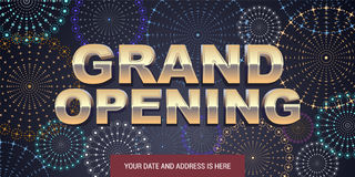 Grand opening vector background Royalty Free Stock Image